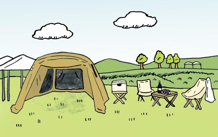 某キャンプ場イラスト